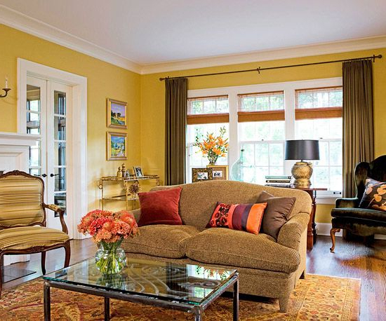 Yellow Color Schemes Yellow Walls Living Room Living