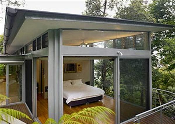 Contemporary Glass House Amongst the Green Landscape in ... on Modern Glass House Design  id=61240