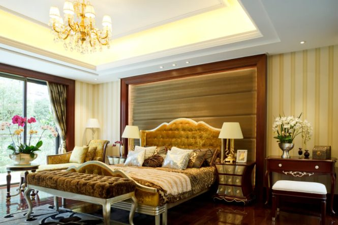 Wine And Gold Bedroom Ivory