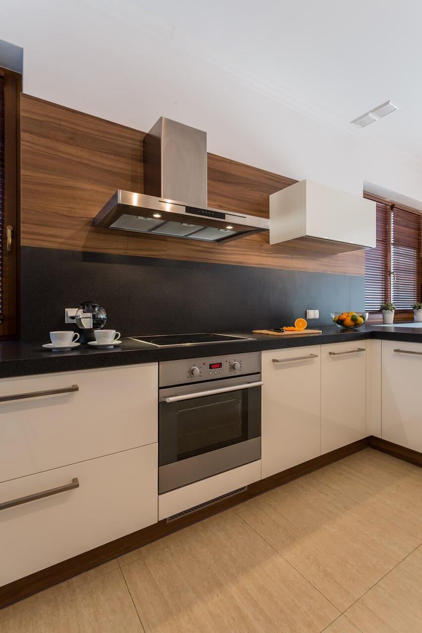 +25 Small Kitchen Design Ideas (Photo Gallery) on Black Countertop Backsplash  id=78606