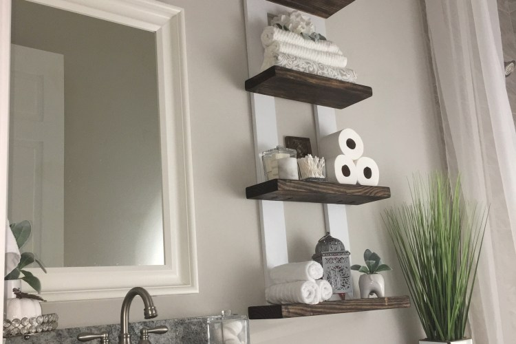 Diy Above The Toilet Shelf Home Defined