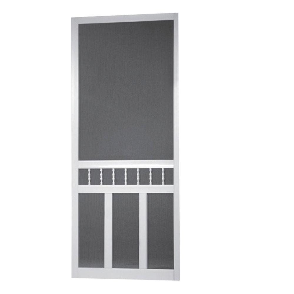 32 inch x 80 inch waccamaw solid vinyl screen door