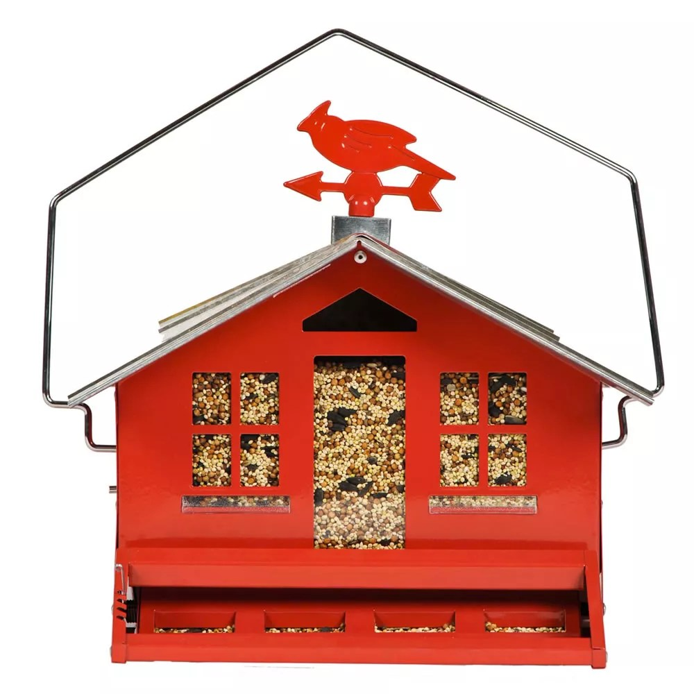 mangeoire pour oiseaux sauvages perky pet squirrel be gone ii red country style