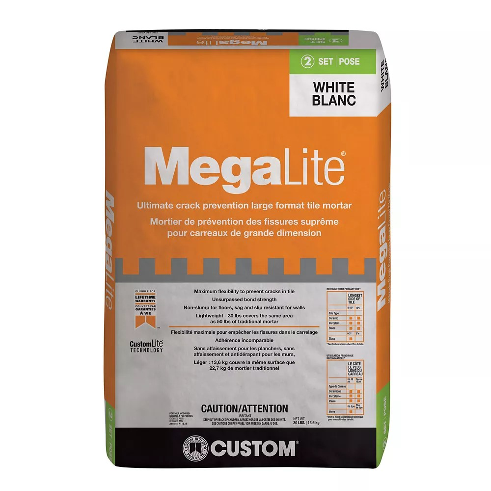 megalite 30 lb ultimate performance mortar in white