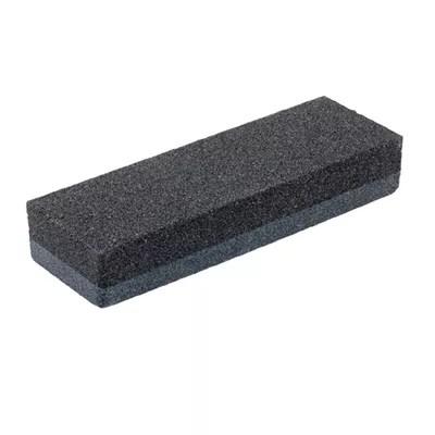 6 in x 2 in x 1 in black dual grit rubbing stone