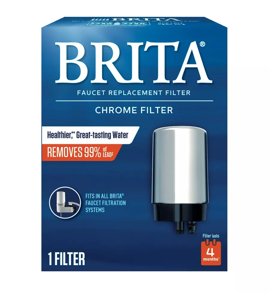 on tap faucet water filter system replacement filters chrome 1 count