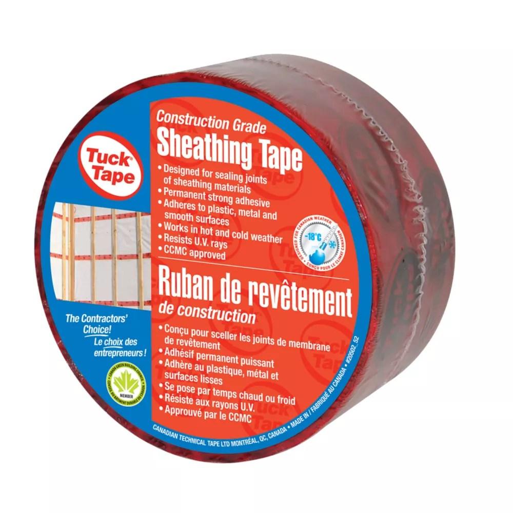 60mm x 50m sheathing housewrap tape in red