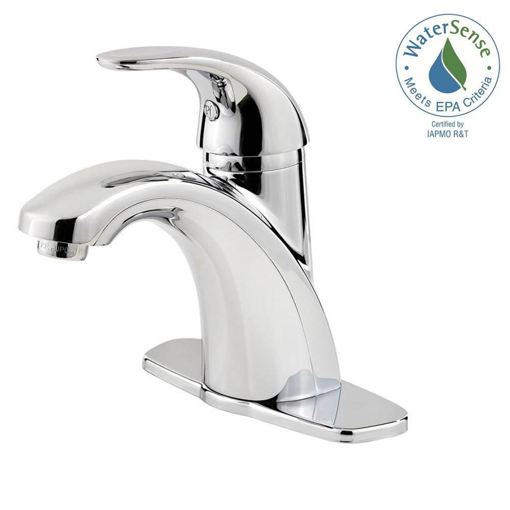 https www homedepot ca product pfister parisa single hole 1 handle mid arc bathroom faucet in chrome with lever handle 1000185601