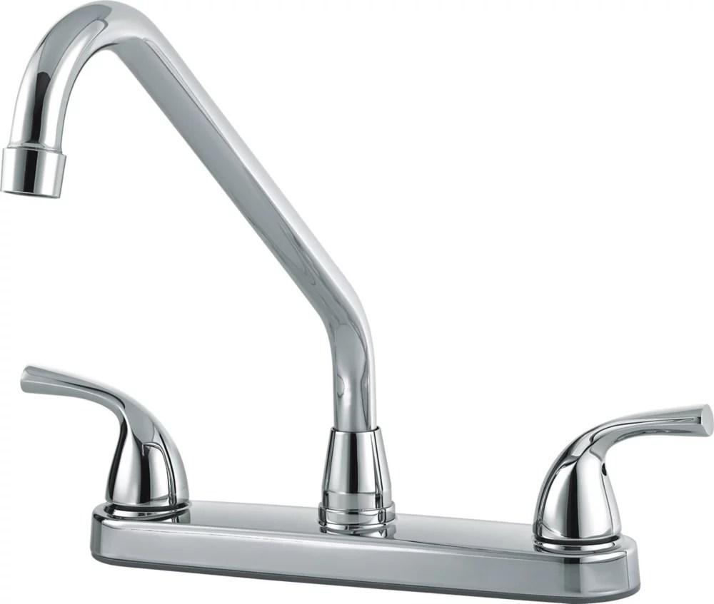 classic two handle kitchen faucet chrome