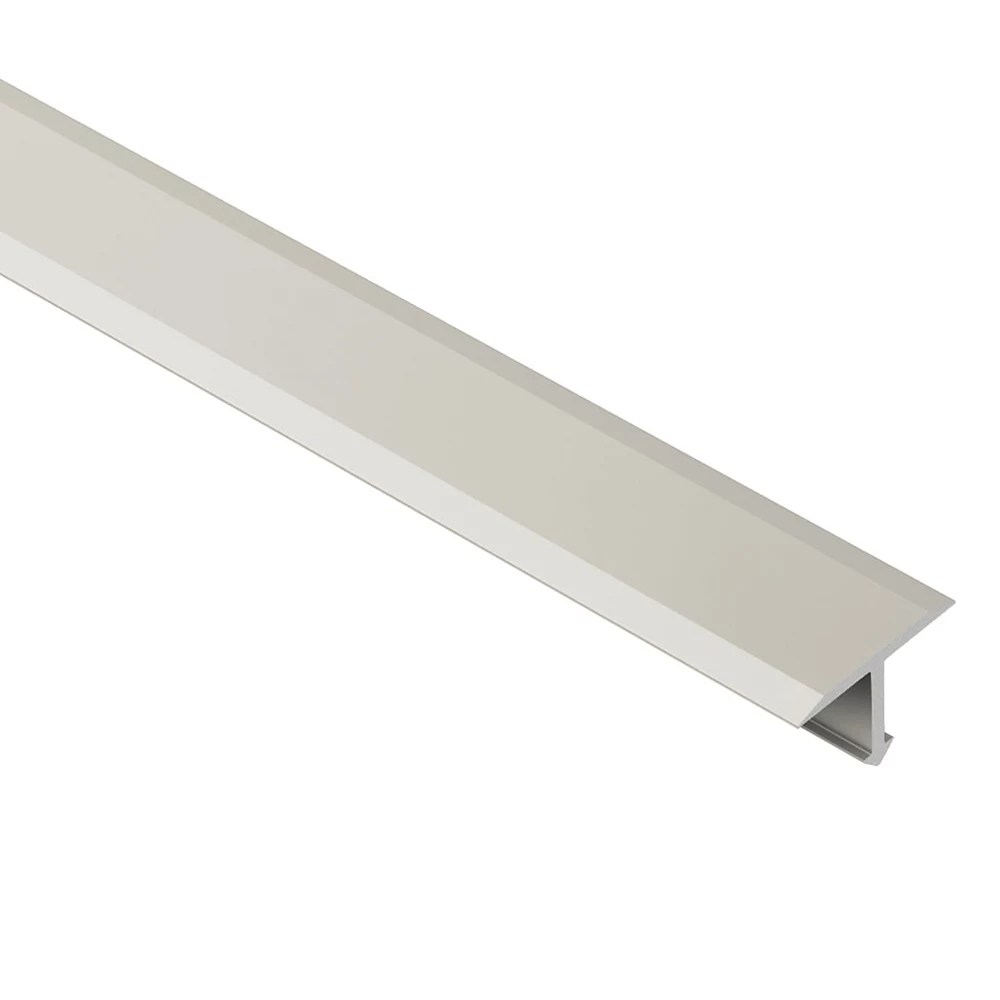 reno t satin nickel anodized aluminum 17 32 inch x 8 ft 2 1 2 inch metal t shaped tile edging trim