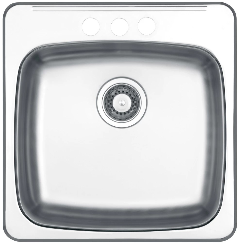 8 deep drop in 20 50 inch x 20 inch single bowl kitchen sink in 20 guage stainless steel mirror finish
