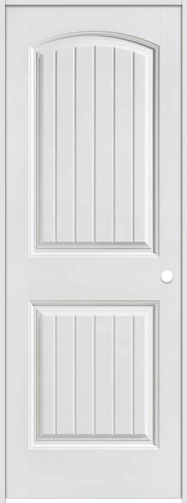 masonite 32 inch x 80 inch lefthand primed 2 panel plank on Masonite 32 Inch X 80 Inch 6 Panel Textured Bifold Door id=98724