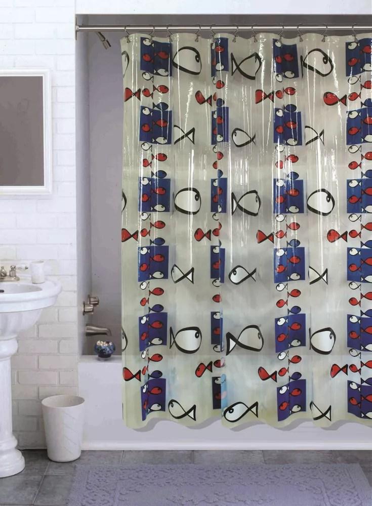 habitat fish cartoon shower curtain