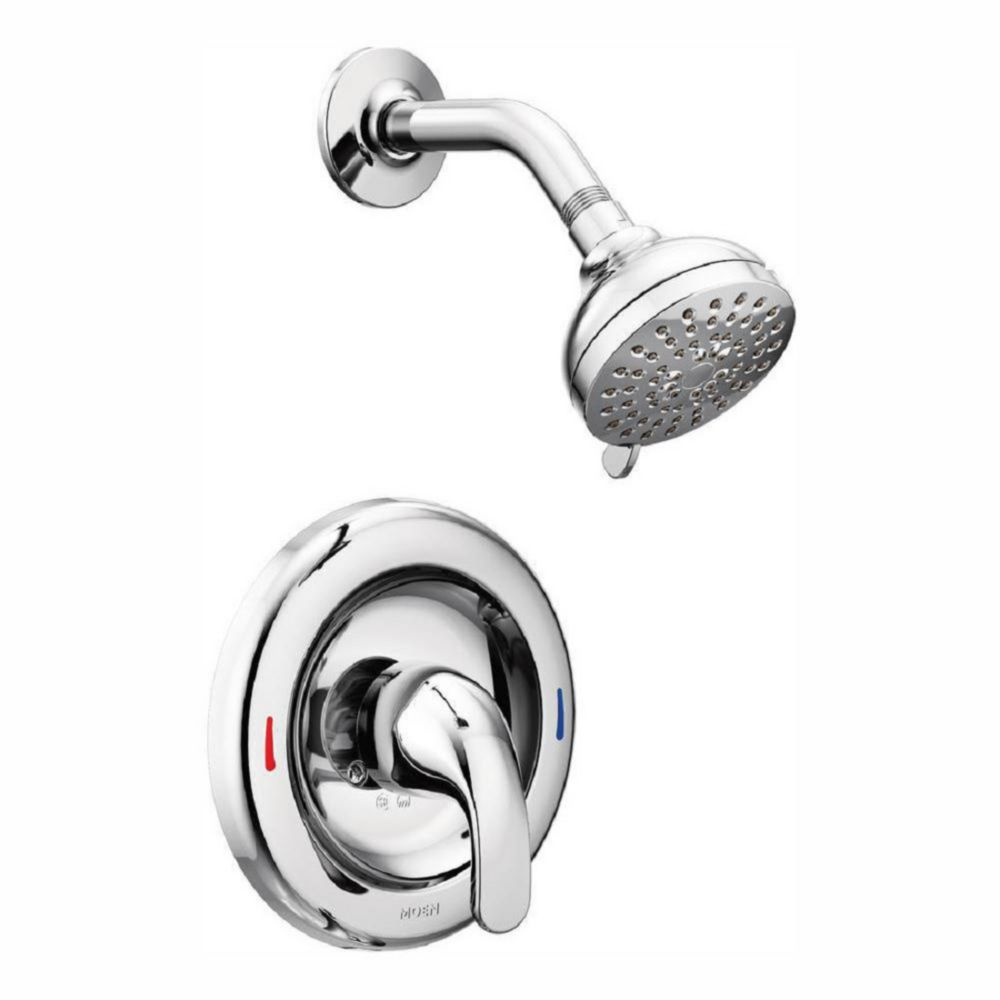 adler single handle 4 spray shower faucet with valve in chrome valve included