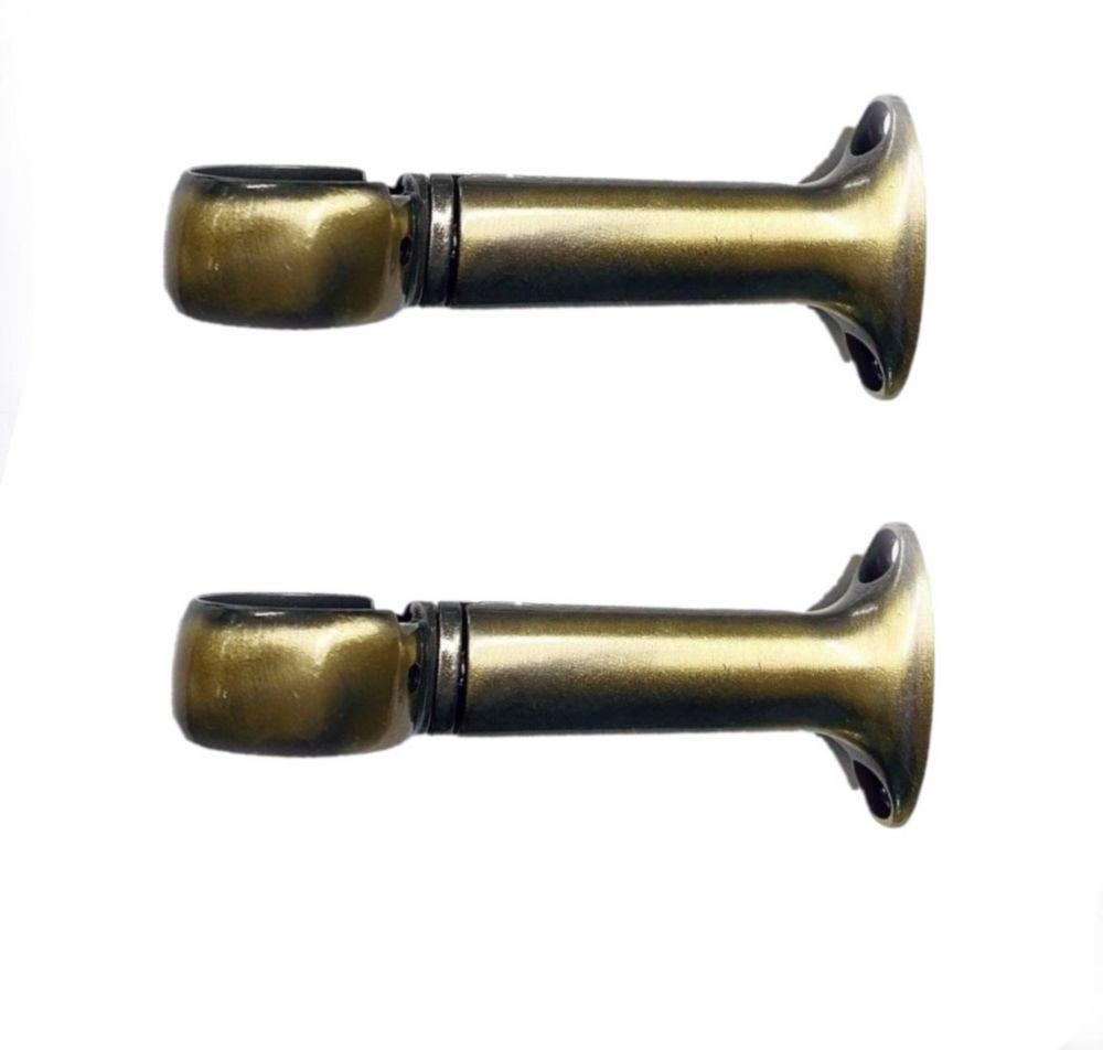 ceiling mount curtain rod bracket in antique brass