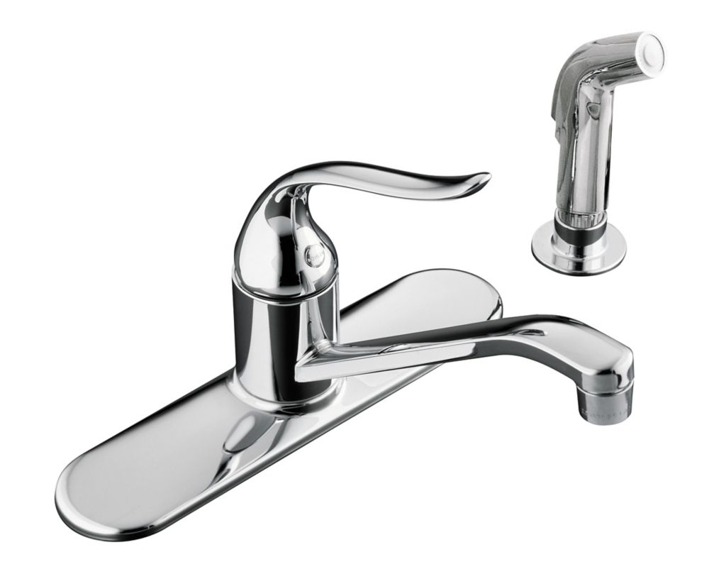 Learn how your faucet choice can enhance the kitchen's design. KOHLER Coralais Single-Control Kitchen Sink Faucet In ...