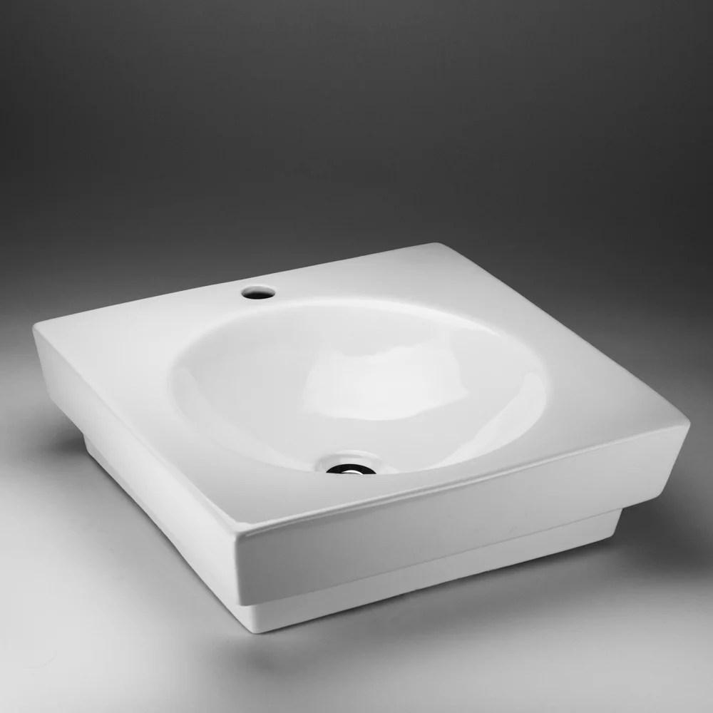 19 inch x 6 50 inch x 19 inch square ceramic bathroom sink