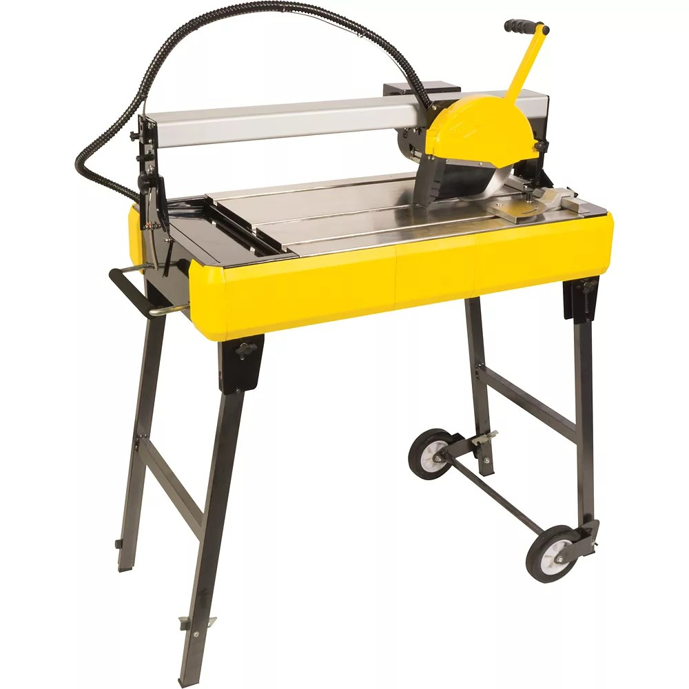 24 inch bridge tile saw with water system