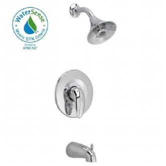reliant 3 bath shower faucet with flo wise water saving showerhead in polished chrome