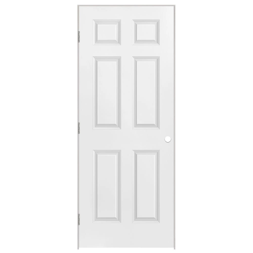 masonite 26 inch x 80 inch righthand 6 panel prehung on Masonite 32 Inch X 80 Inch 6 Panel Textured Bifold Door id=27230