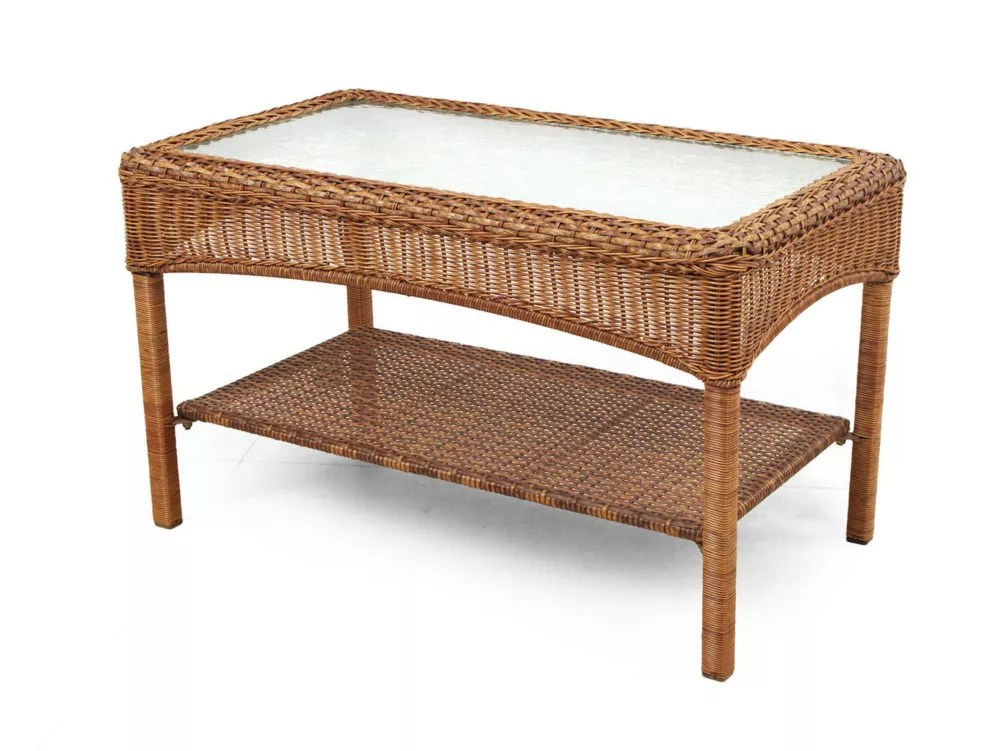 charlottetown patio coffee table in brown