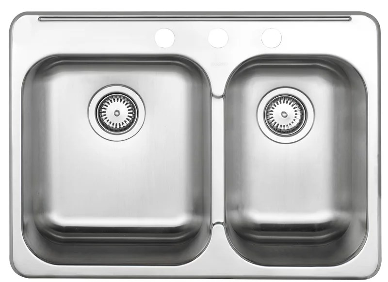 1 1 2 bowl kitchen sink in brushed stainless steel