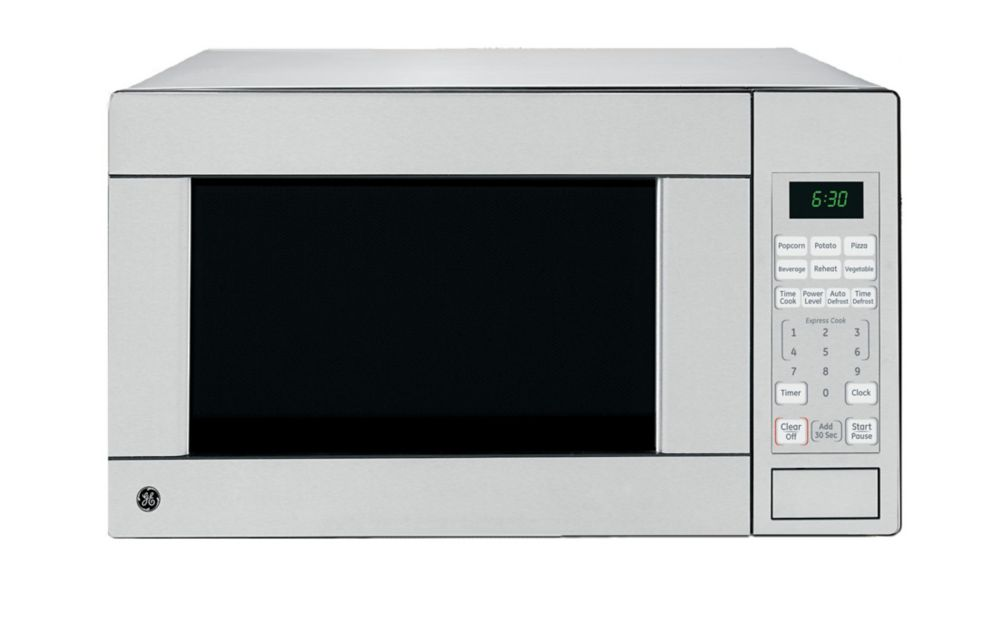 1 1 cu ft countertop microwave oven in stainless steel
