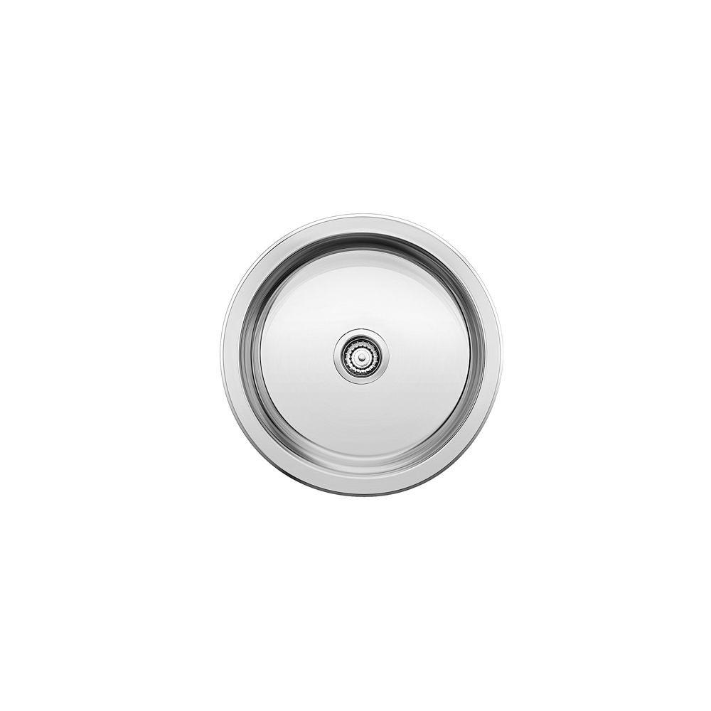 winchester round single bowl stainless steel drop in bar preparation sink