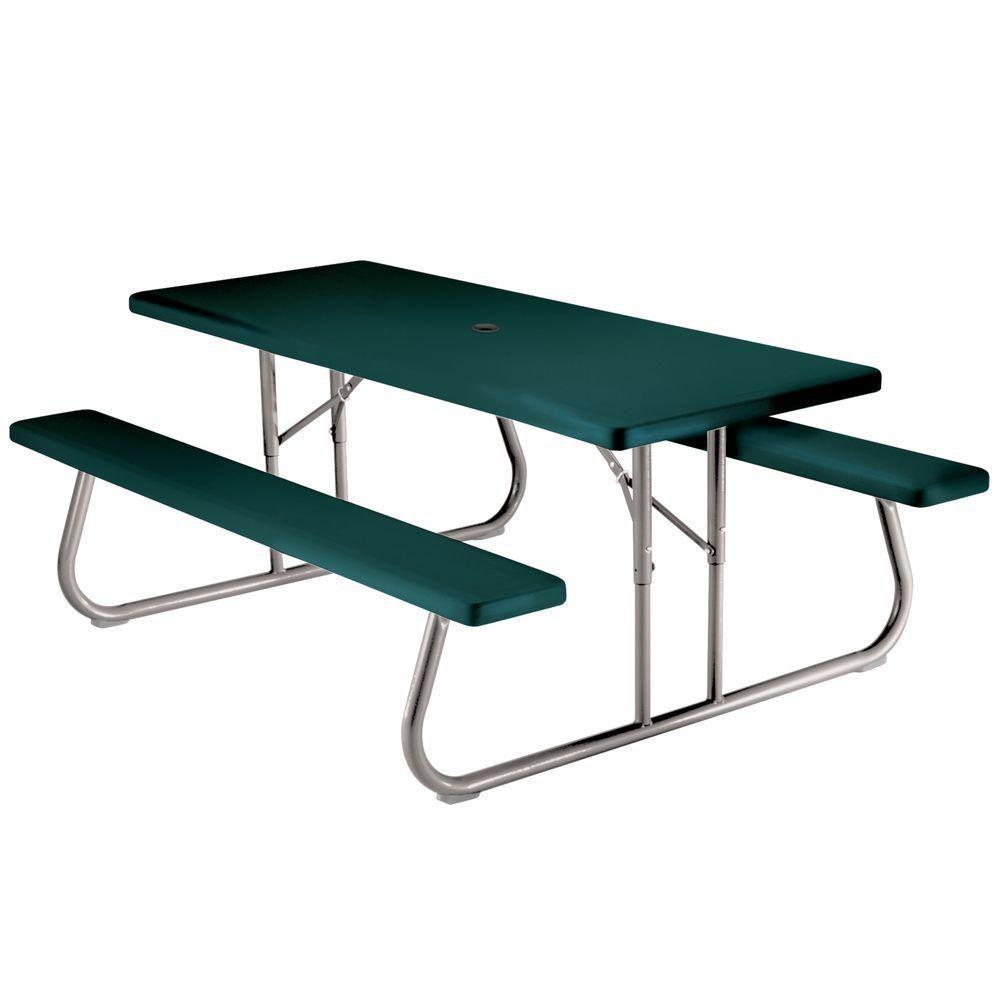 table de pique nique pliante 1 83 m 6 pi vert