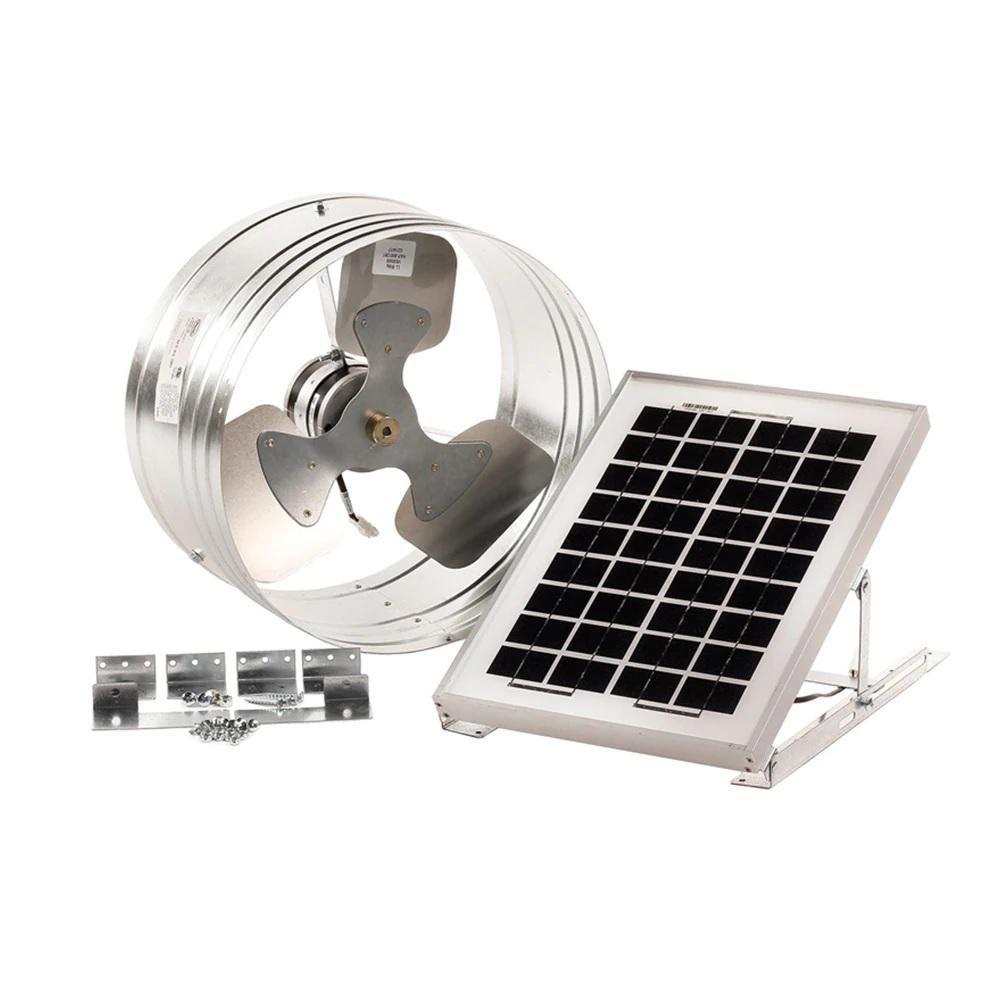 15 watt solar powered gable mount exhaust fan