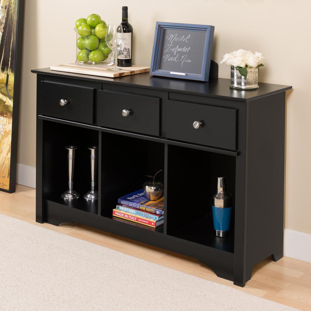 meuble de rangement pour salon noir