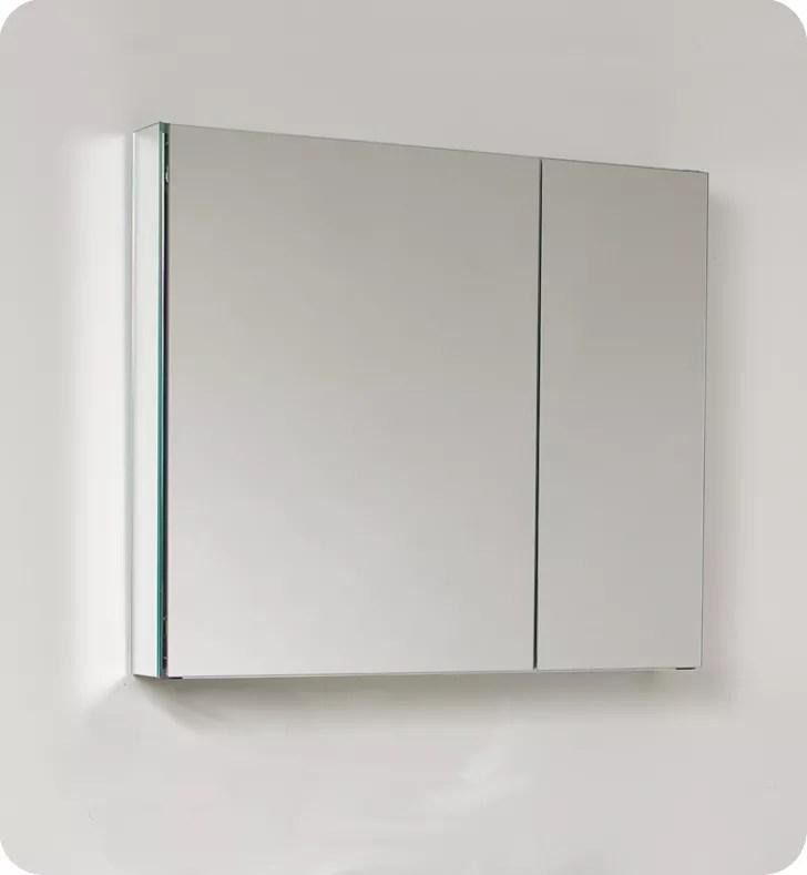 armoire a pharmacie 30 po de large avec miroirs