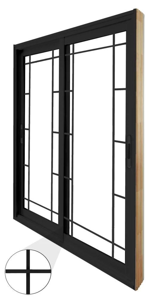71 75 inch x 79 75 inch clear lowe argon painted black double sliding vinyl patio door energy star