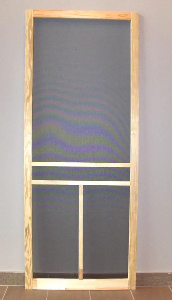 36 inch t bar wood screen door