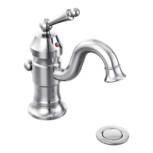 waterhill 4 inch centerset single handle lever handle with watersense in chrome