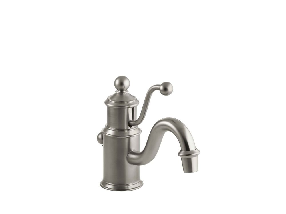 antique single hole bathroom faucet with lever handle