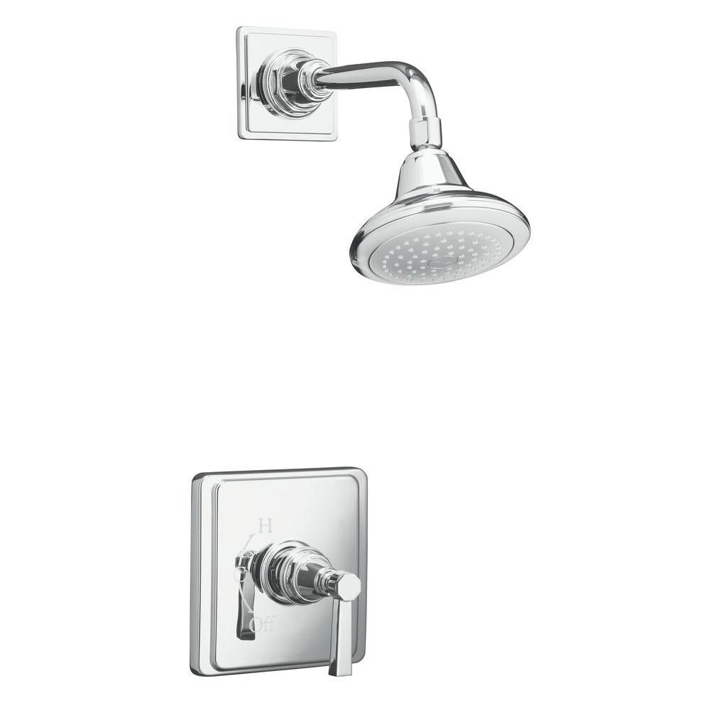 pinstripe pure rite temp pressure balancing shower faucet with lever handle