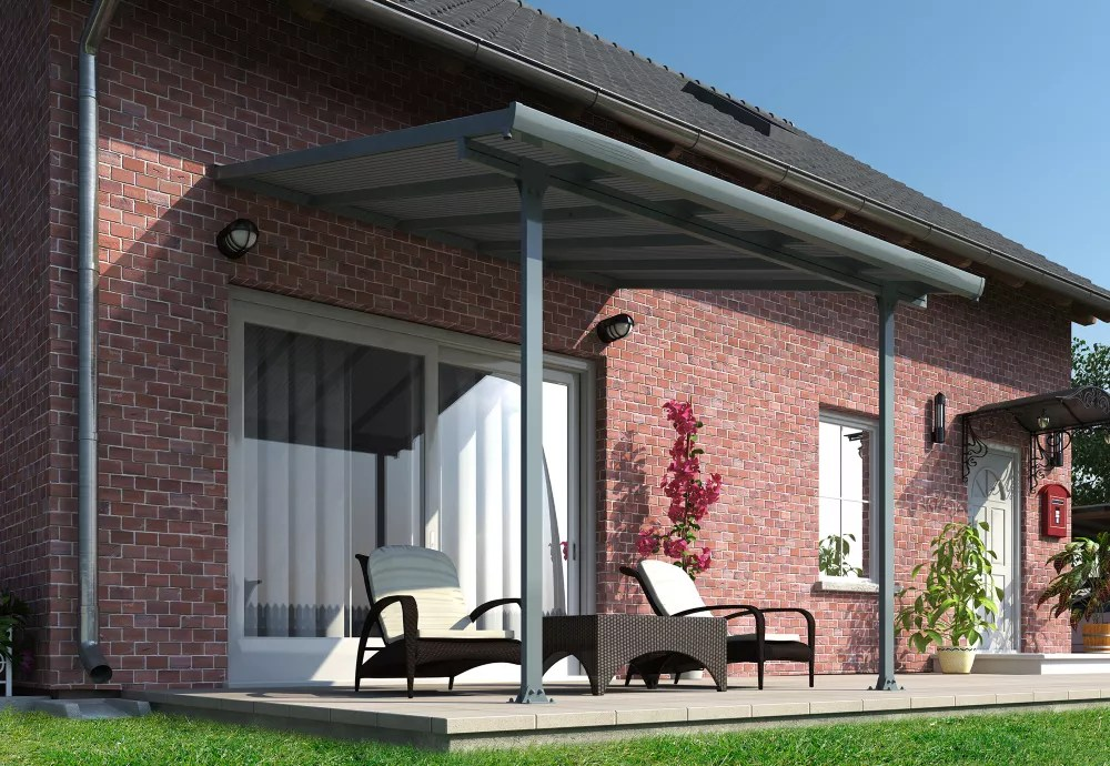 feria 10 ft x 10 ft patio cover in grey
