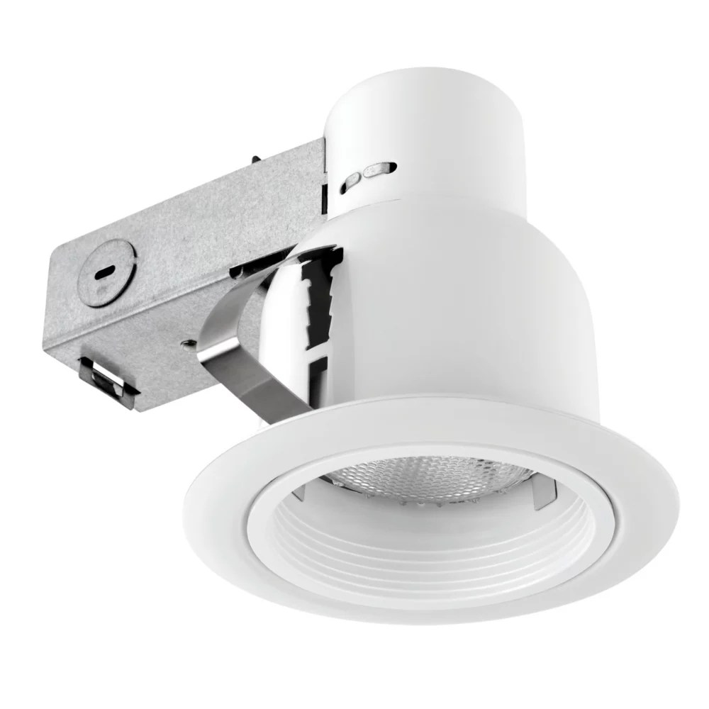 4 inch outdoor rust proof recessed lighting kit in white
