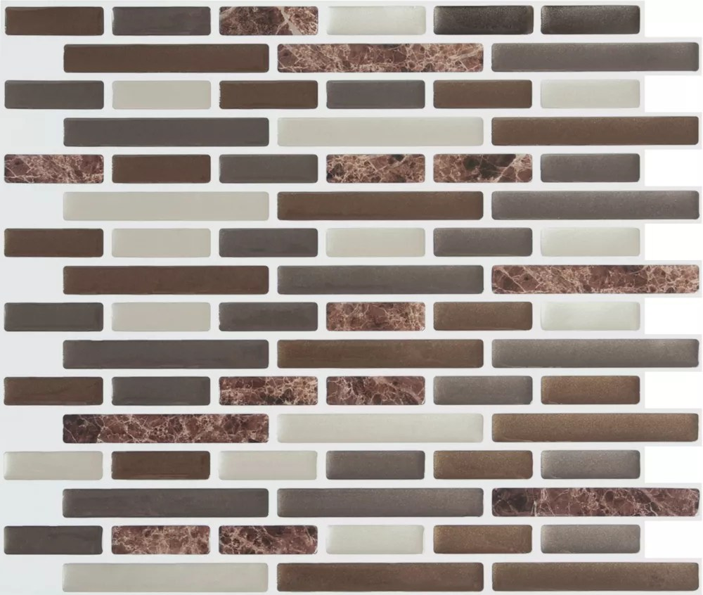 brown marble peel and stick it tile 11x9 25 bulk pack 8 tiles