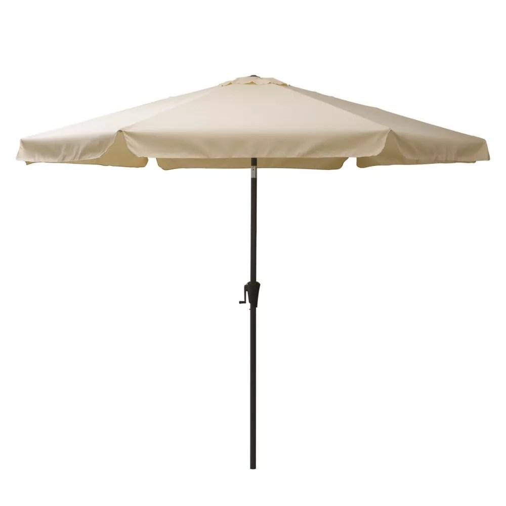 10 ft round tilting warm white patio umbrella