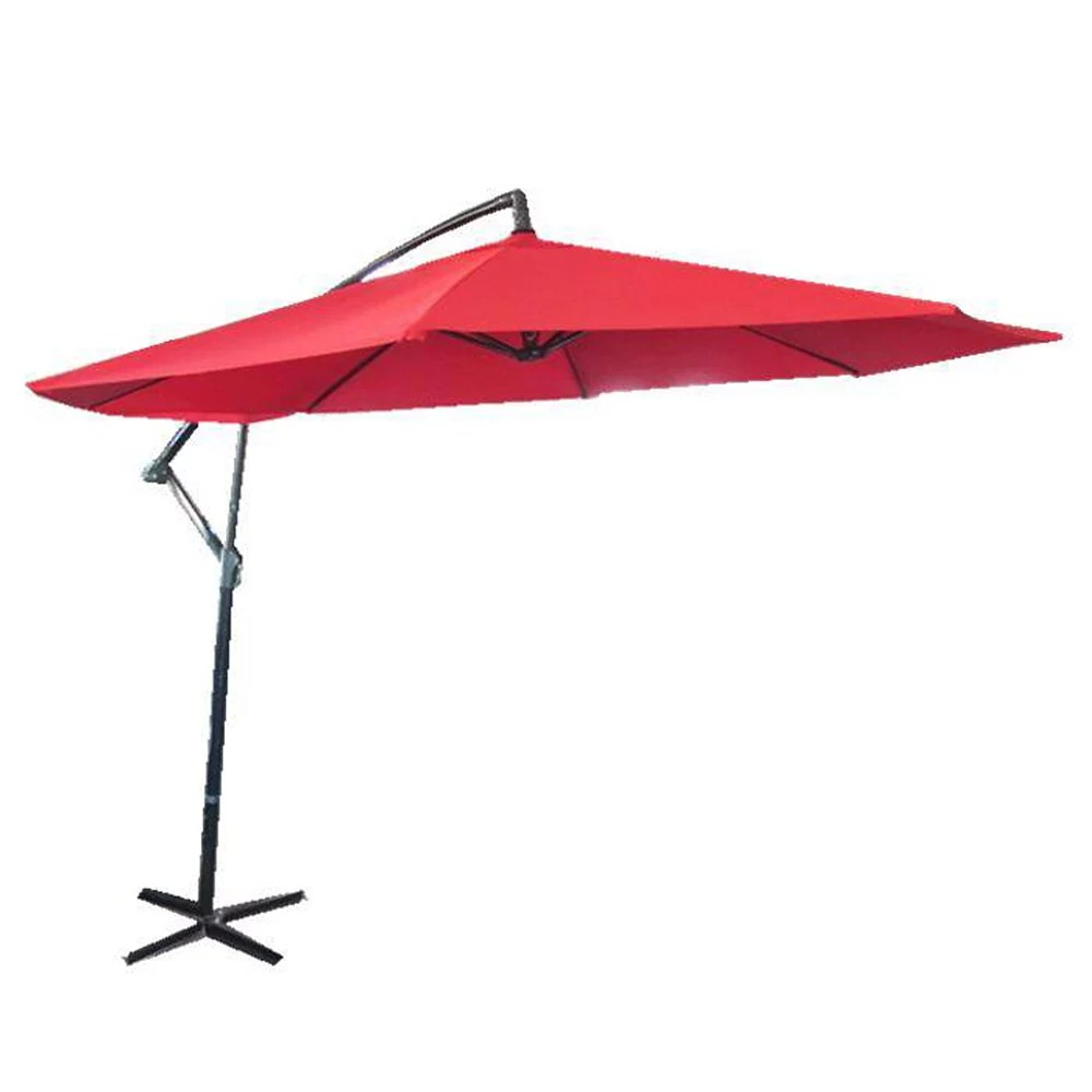 10 ft cantilever patio umbrella in red