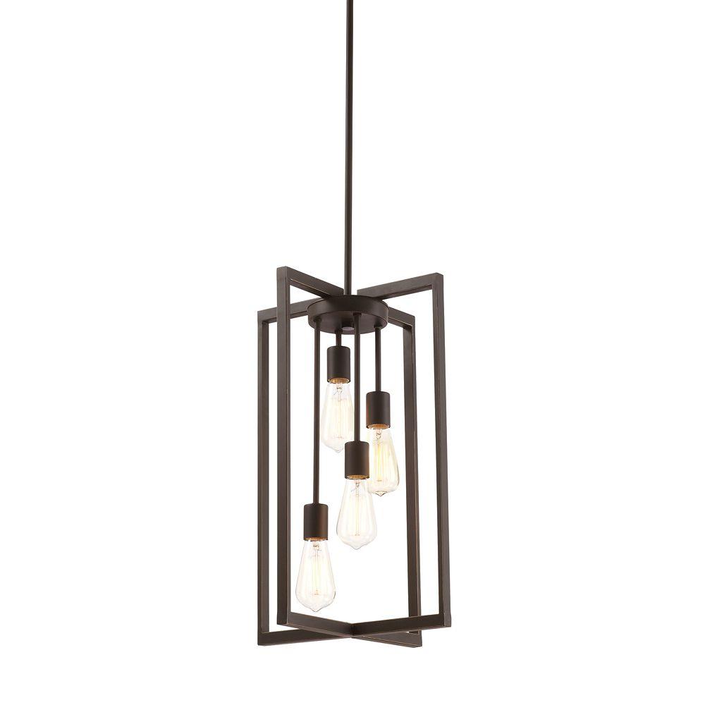 4 light pendant light fixture in oil rubbed bronze