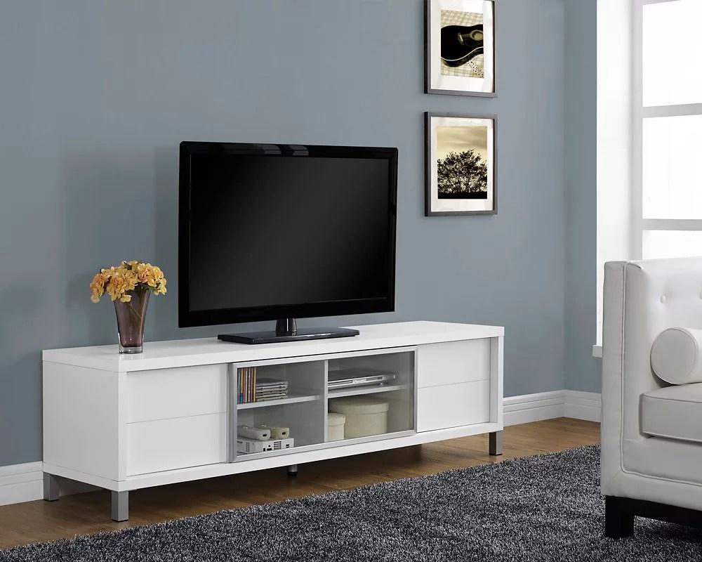white hollow core 70 l euro tv console