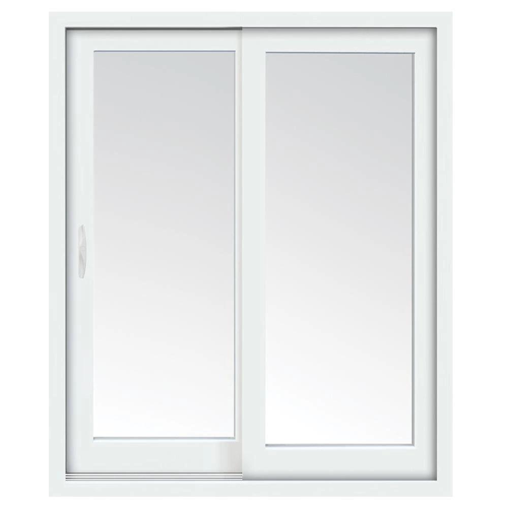 60 inch x 80 inch glacier white left hand sliding low e vinyl patio door