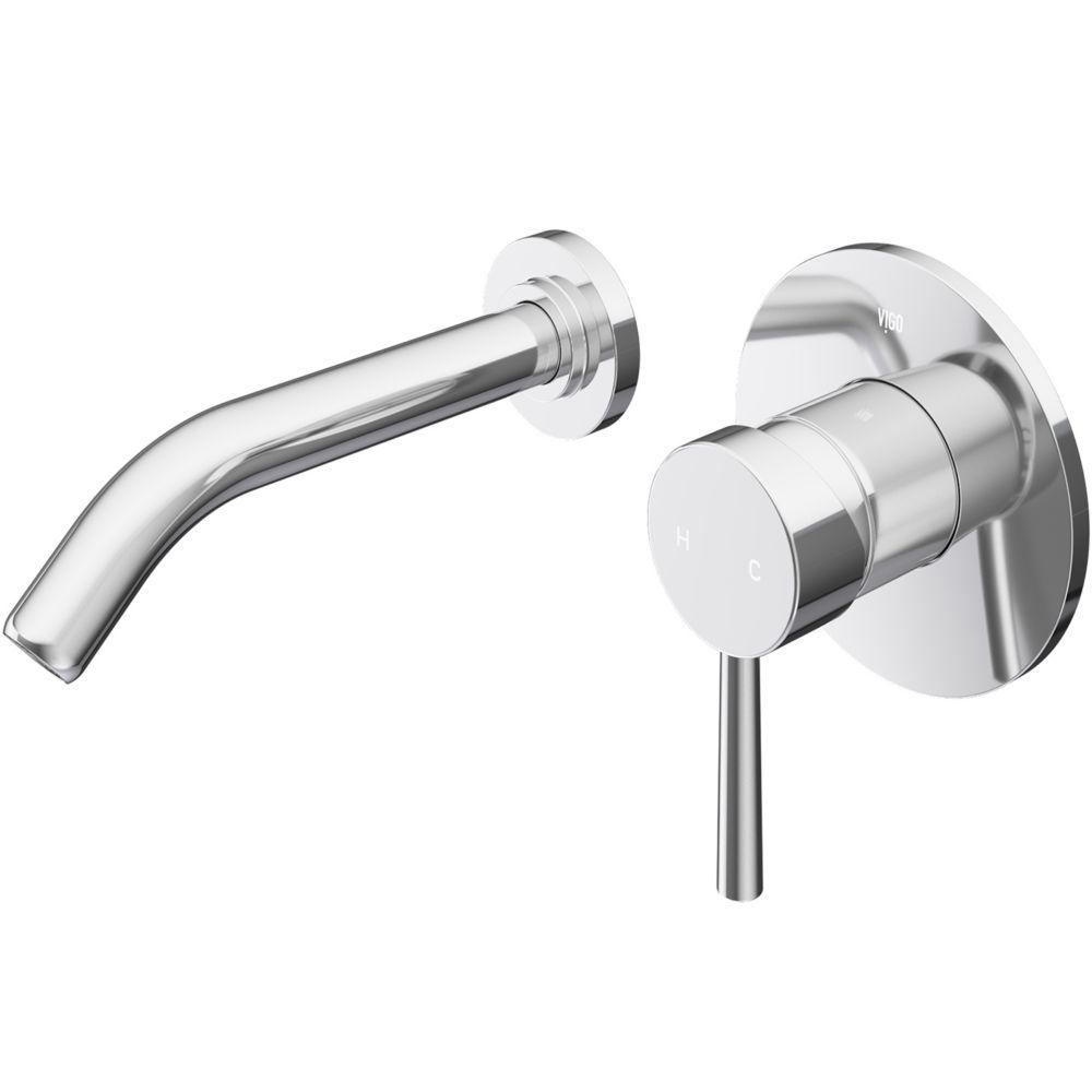 robinet de salle de bain mural chrome olus de