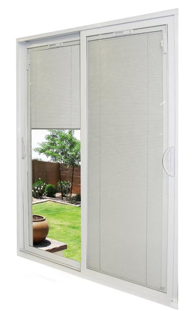59 1 2 inch x 79 1 2 inch x 5 3 4 inch jamb depth double sliding pvc patio door in white energy star