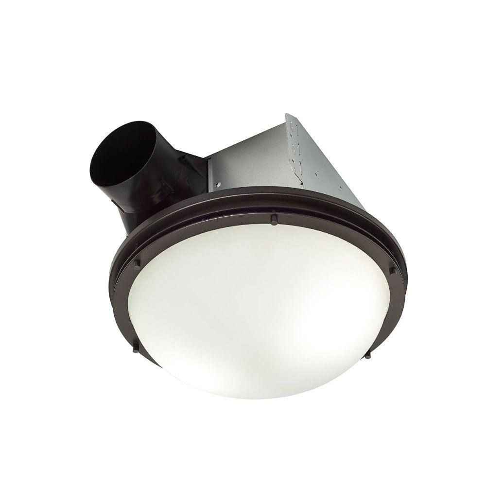 invent decorative oil rubbed bronze 80 cfm ceiling exhaust fan with light and white globe energy star