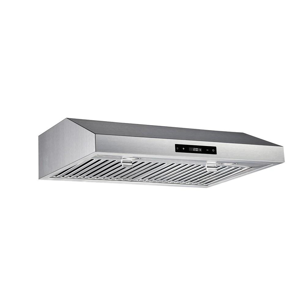 30 inch 460cfm under cabinet range hood in stainless steel