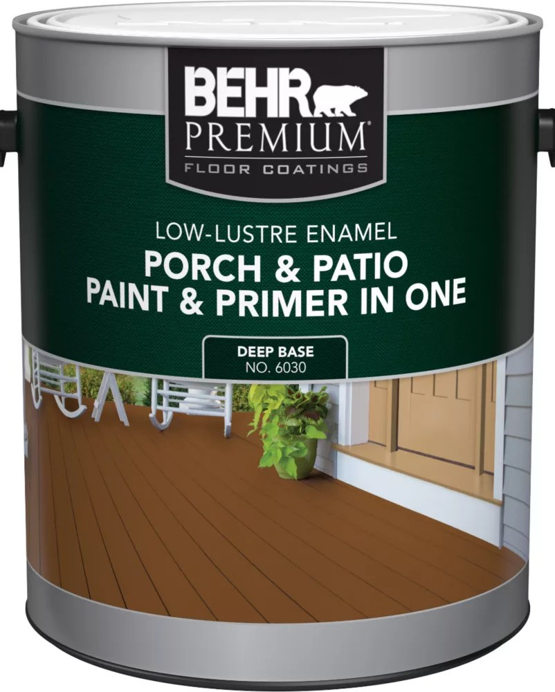 porch patio paint primer in one low lustre enamel deep base 3 7 l
